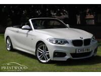 2015 BMW 220D M SPORT STEP AUTO [190 BHP] CONVERTIBLE * PEARL WHITE * HIGH SPEC