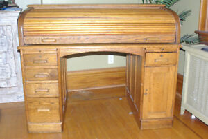 Antique Desk and Distressed Hutch