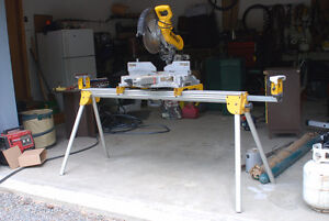 "10"" Compound Miter Saw and Saw Horse"
