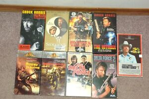 Set of 9 Chuck Norris VHS Tapes