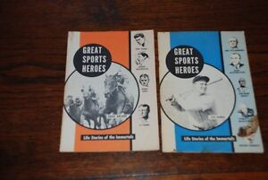 2 GREAT SPORT HEROES BOOKS LIFE STORIES OF IMMORTALS PT COLBORNE