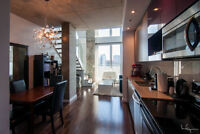 Luxury Old Montreal 2 storey loft, fully furnished, all included