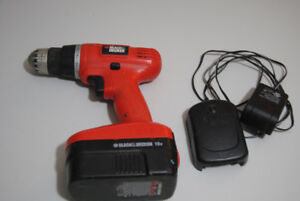 Black and decker drill with charger