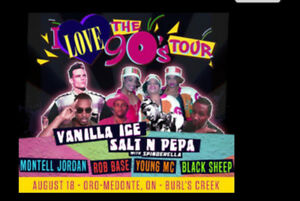 **2 VIP Tickets**   I Love 90's Tour w/ Free paid parking