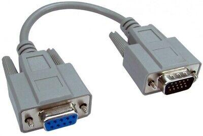 VGA 9-pin Monitor Cable Adaptador, Conectar más Antigua A PC 15-pin
