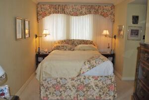 DYI Bedroom Soft Furnishings  and Matching Window Treatments.