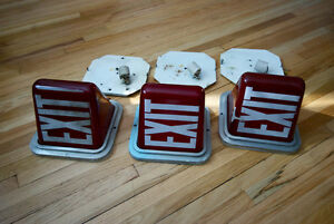 Antique Lights Ruby Red Exit (matching set of 3)