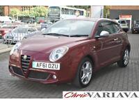 2011 Alfa Romeo Mito 1.4 TB MultiAir 135 Distinctive 3dr ** ONE OWNER FULL ALFA