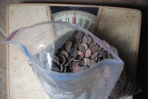 10 LBS POUNDS COPPER CULLS PENNIES PENNY LOT 99.9% CANADA COINS