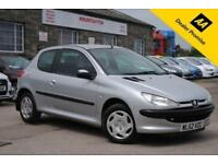 2002 (52) PEUGEOT 206 1.4 LOOK 3 DOOR HATCHBACK SILVER PETROL MANUAL 74 BHP