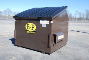 Looking to buy dumpsters and steel bins- 4 and 6 YARD+