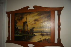 BEAUTIFUL 1939 OIL ON CANVAS PAINTING - WINDMILL BY M.P. DUPONT West Island Greater Montréal image 2