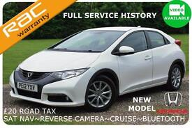 2012 Honda Civic 2.2i-DTEC ES-T Full History~SAT NAV~1 Owner~Finance Available