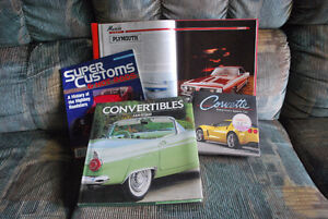 4 books on cars...3 hardcover, 1 softcover