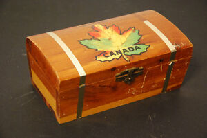 Vintage cedar box Trinket treasure chest