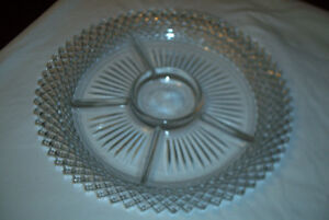 """Miss America Depression Divided serving Plate 11  1/2"""""""
