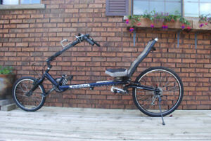 Recumbent bike, bicycle