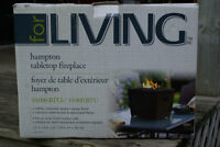Tabletop gas fireplace