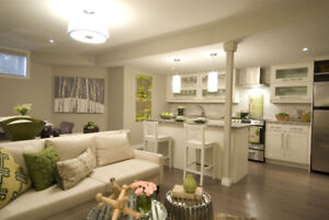 Brand New Fully Furnished 2 Bedrm Basement Apartment in Vaughan