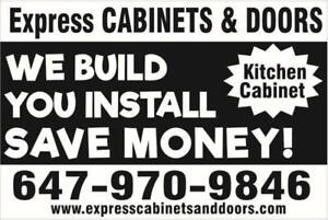 Affordable Cabinet Doors - 1 Week - Custom MDF Refacing