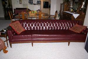 1950'S LEATHERETTE COUCH