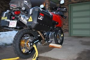 Spoked wheels, tires & brake rotors for Suzuki V-Strom Edmonton Edmonton Area image 5
