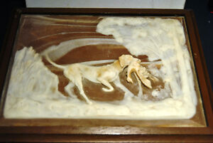 VINTAGE RELIEF HUNTING SCENE DECO-TEL EXECUTIVE BOX PHONE