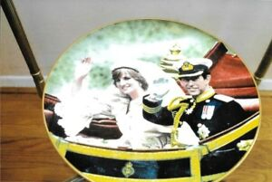STAFFORDSHIRE PLATE FOR THE WEDDING OF PRINCE CHARLES AND DIANA