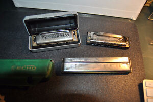 Vintage German M.HOHNER 3 pc Harmonica