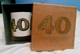 Happy birthday to you cup in box 40th new