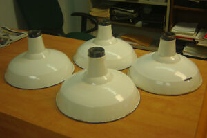 "Vintage 16"" Enamel Light Shades"
