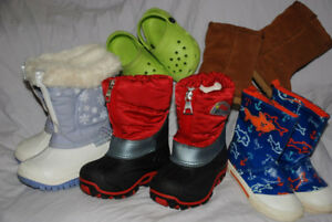kids RAIN BOOTS, WINTER BOOTS - SIZE 3, 4, 6