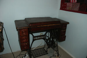 For Sale: treadle cabinet by Singer with Indian spinner