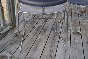 Mid-Century Chrome Purple Plastic Stacking Chairs~Steelcase x4 Belleville Belleville Area image 4