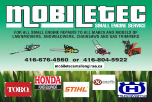 Mobiletec Snowblower Lawnmower Repair Service