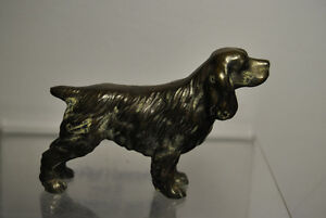 VINTAGE TROPHY CRAFT COPPER/BRONZE DOG FIGURINE