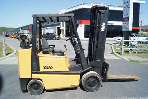 CHARIOT ELEVATEUR,FORKLIFT,YALE GLCO80,PROPANE,CUSHION