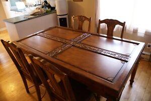 Set de salle à manger/salon 9 morceaux en bois