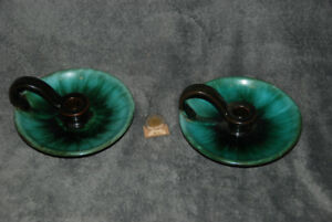 Beautiful Blue Mountain Pottery Candle Holder