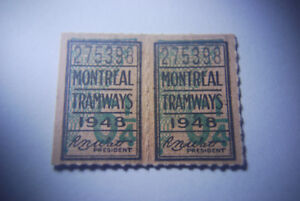 Montreal Tramway Tickets