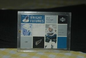02-03 Upper Deck Bright Futures Matt Pettinger Game Jersey Card Regina Regina Area image 1