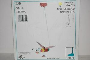 NEW Eglo Susi 1 Light BUG Pendant, Multi Color, 83579A, Great
