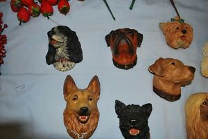 **Bossons from England, Dog Heads.....set of nine....