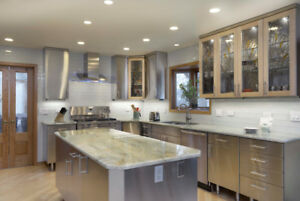 Custom Designed 304 Stainless Steel Kitchen Cabinets Set