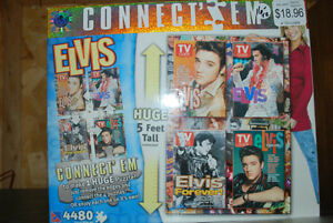 """""""THE KING"""" PUZZLES 4 ELVIS PRESLEY Puzzles in box! NEVER OPENED"""