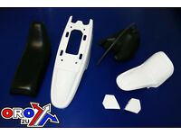 New YAMAHA PW 50 Plastics Plastic Kit Tank Seat Front & Rear Fender White