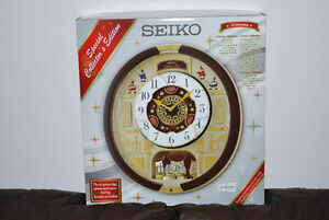 NEW Seiko Melodies in Motion Clock, 22 Swarovski Crystals, 24 H