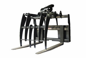 Jenkins HEAVY DUTY Pallet Forks Grapple Skidsteer Attachment Williams Lake Cariboo Area image 1