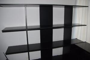 IKEA Bookcase and Computer Desk Black Moving Sale - $45