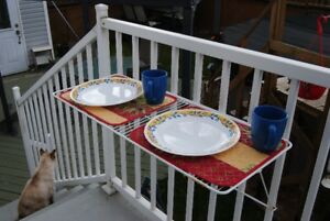 table de balcon pliante